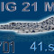 MIG-21MF CEF retro 7701 Stress Team (repaint) FSX / P3D