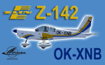 PWDT Zlín Z-142 OK-XNB (repaint) FSX / P3D