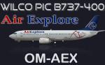 Wilco PIC 734 Classic Air Explore OM-AEX (repaint) FS2004