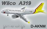 Wilco A319 Germanwings D-AKNM (repaint)