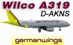 Wilco A319 Germanwings D-AKNS (repaint)
