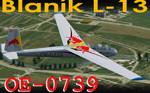 Blaník L-13 OE-0739 (repaint) FS2004 / FSX