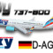 iFly B737-800 German Sky Airlines D-AGSA (repaint) FS2004