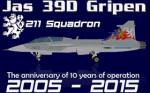 Alphasim/Jas 39D Gripen CEF 9820 (repaint) FS2004 / FSX