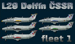L29 Delfín ČSSR fleet v.1 (repaint) FS2004 / FSX / P3D