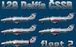 L29 Delfín ČSSR fleet v.2 (repaint) FS2004 / FSX / P3D