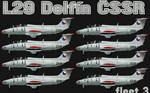 L29 Delfín ČSSR fleet v.3 (repaint) FS2004 / FSX / P3D
