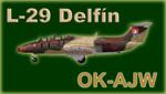L-29 Delfín Blue Sky Service OK-AJW (repaint) FS200 / FSX / P3D
