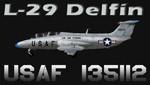 L29 Delfín USAF-135112 (fiktivní repaint) FS2004 / FSX / P3D