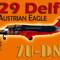 L-29 Delfín The Austrian Eagle ZU-DNW (repaint) FS2004  / FSX