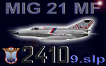 MIG-21MF CEF retro 2410 (repaint) + paintkit FSX / P3D