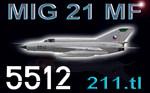 MIG-21MF CEF retro 5512 (repaint) FSX / P3D