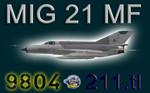 MIG-21MF CEF retro 9804 (repaint) FSX / P3D