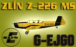 Zlín Z-226 MS G-EJGO (repaint) FS2004 / FSX