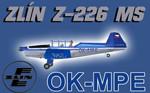Zlín Z-226 MS OK-MPE (repaint) FS2004 / FSX