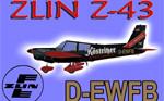 Zlín Z-43 D-EWFB (repaint) FS2004 / FSX