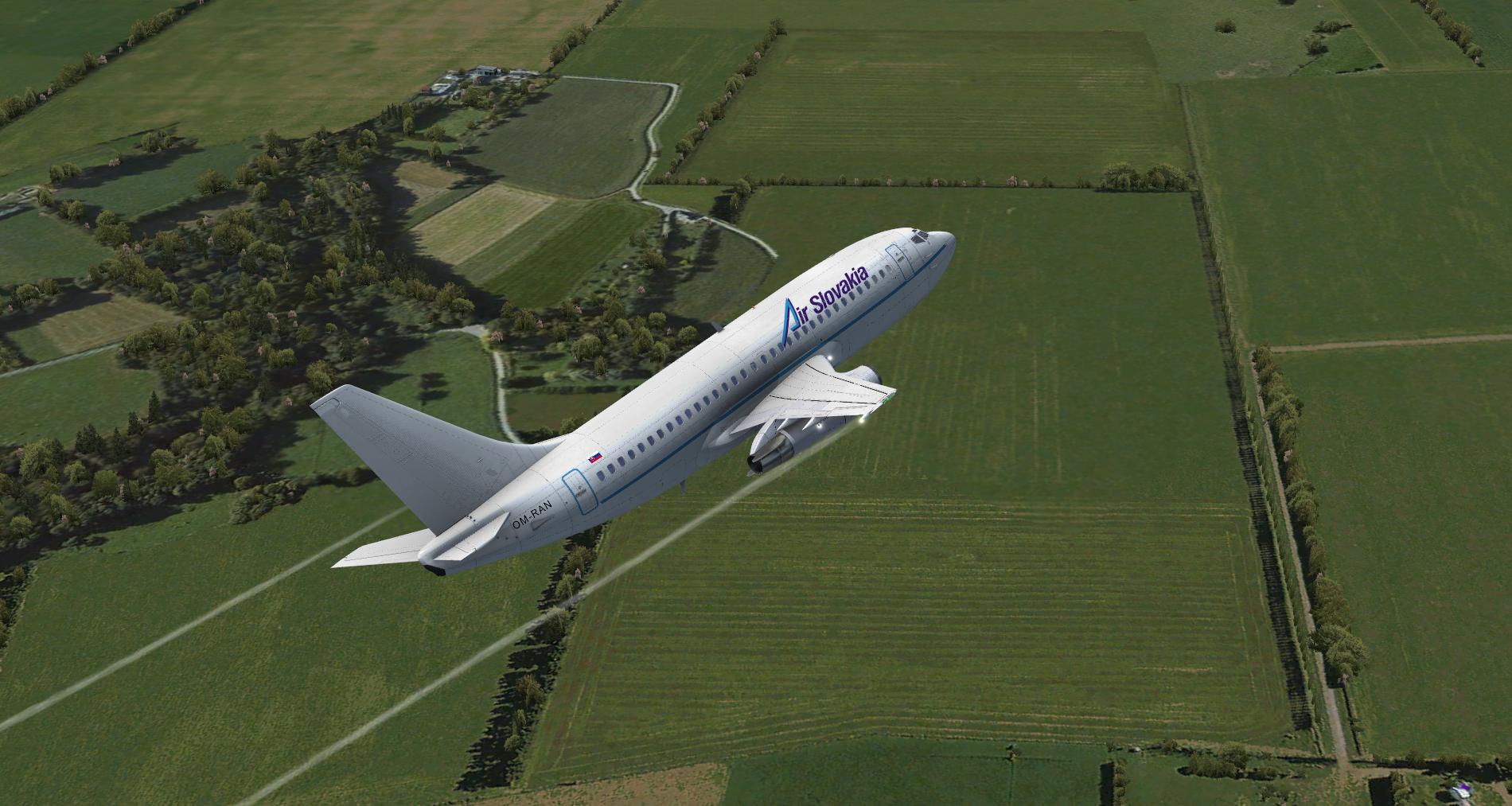 Milviz 737-200 Air Slovakia OM-RAN (repaint) FSX | Flightsimulator